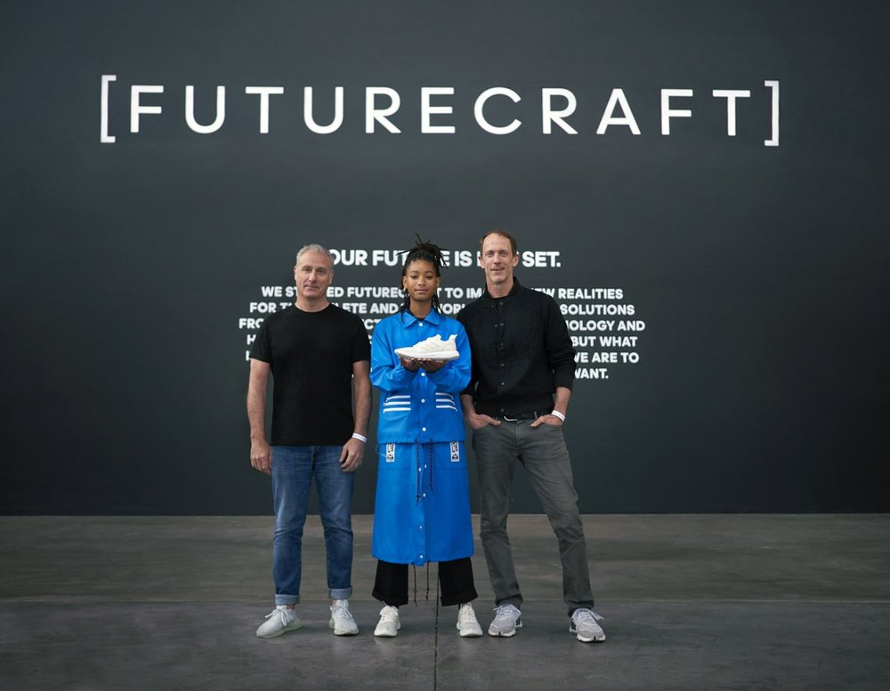 #FUTURECRAFT LOOP: (Left to Right) Paul Gaudio, Willow Smith & Eric Liedtke pic.twitter.com/9NRd07i3v5