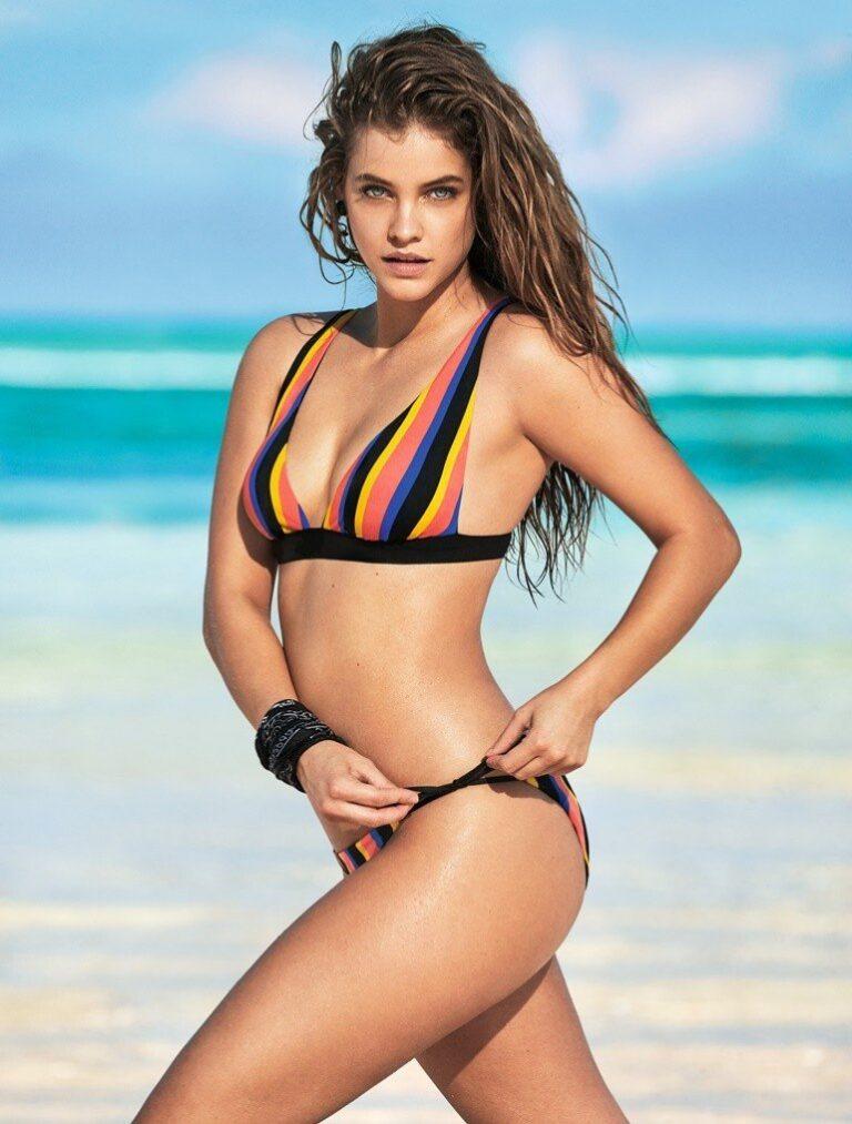 Body confident Barbara Palvin makes waves in Calzedonia Swim 2019 campaign.