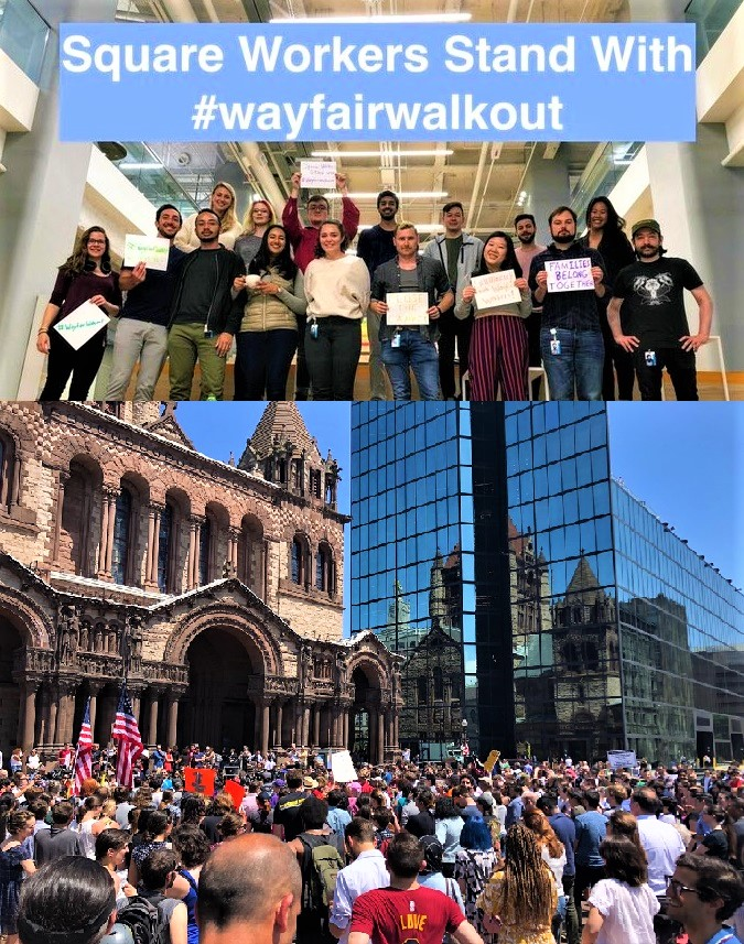 Wayfair Corporate Boston Workers Protest Of Sales To Texas
