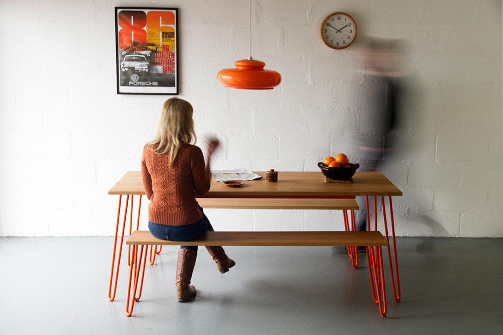 Cord_Industries_Hairpin_leg_dining_set_oak_orange