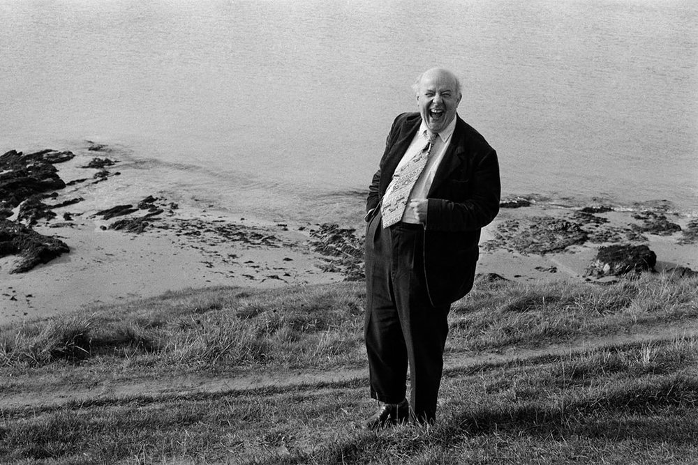 Poet John Betjeman - photographed by Bown here in Cornwall, at Daymer Bay.