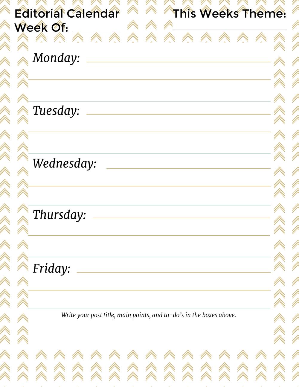 Editorial Calendar Love Midge