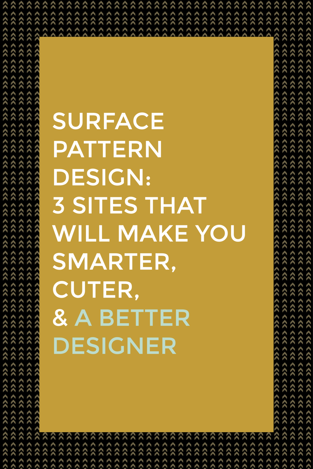 Surface Pattern Design:  3 Sites That Will Make You Smarter, Cuter, & a Better Designer