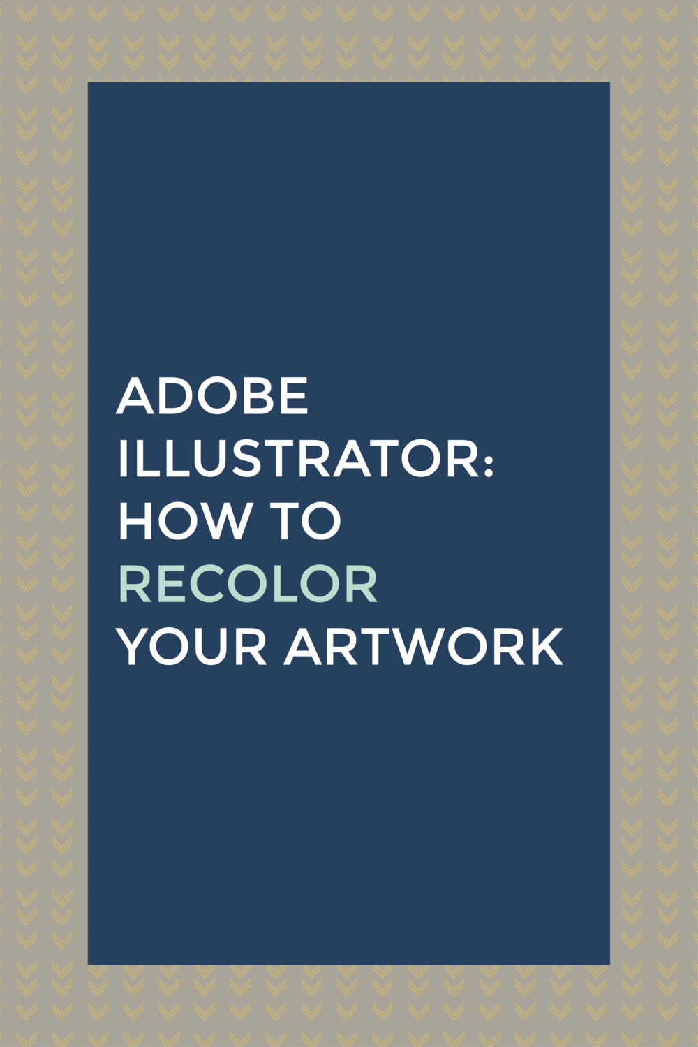 Adobe Illustrator how to recolor your artwork