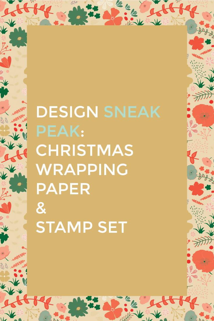 Design Sneak Peak:  Christmas Wrapping Paper and Stamp Set