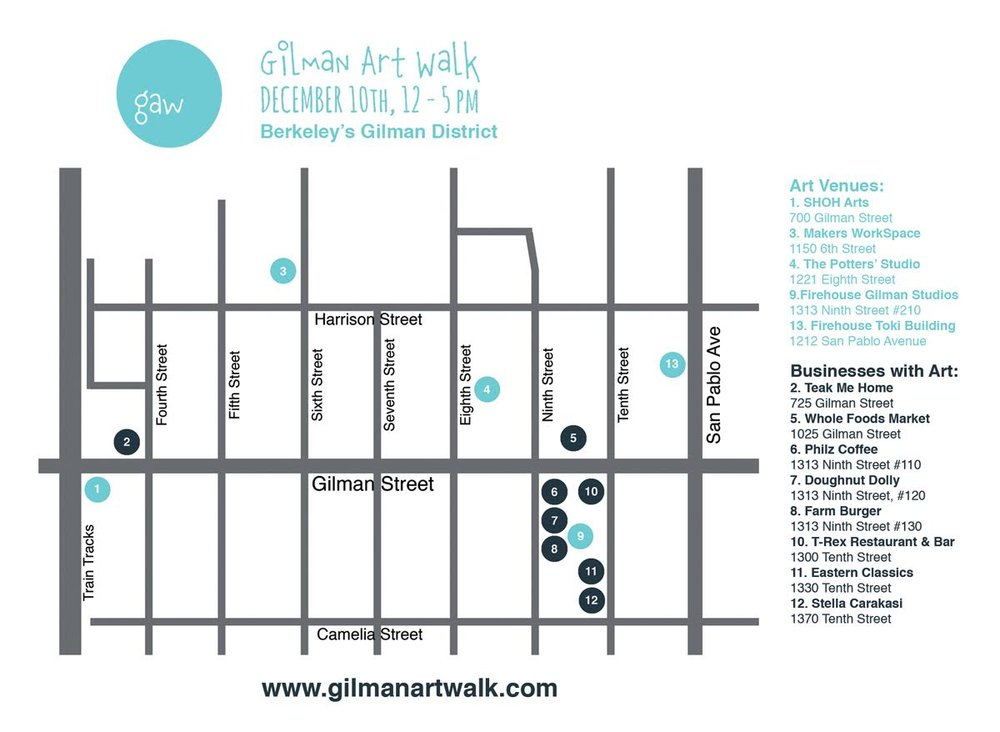 gilman art walk map
