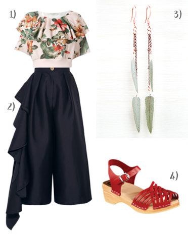 beautiful botanical print outfit for spring day - click through for outfit details