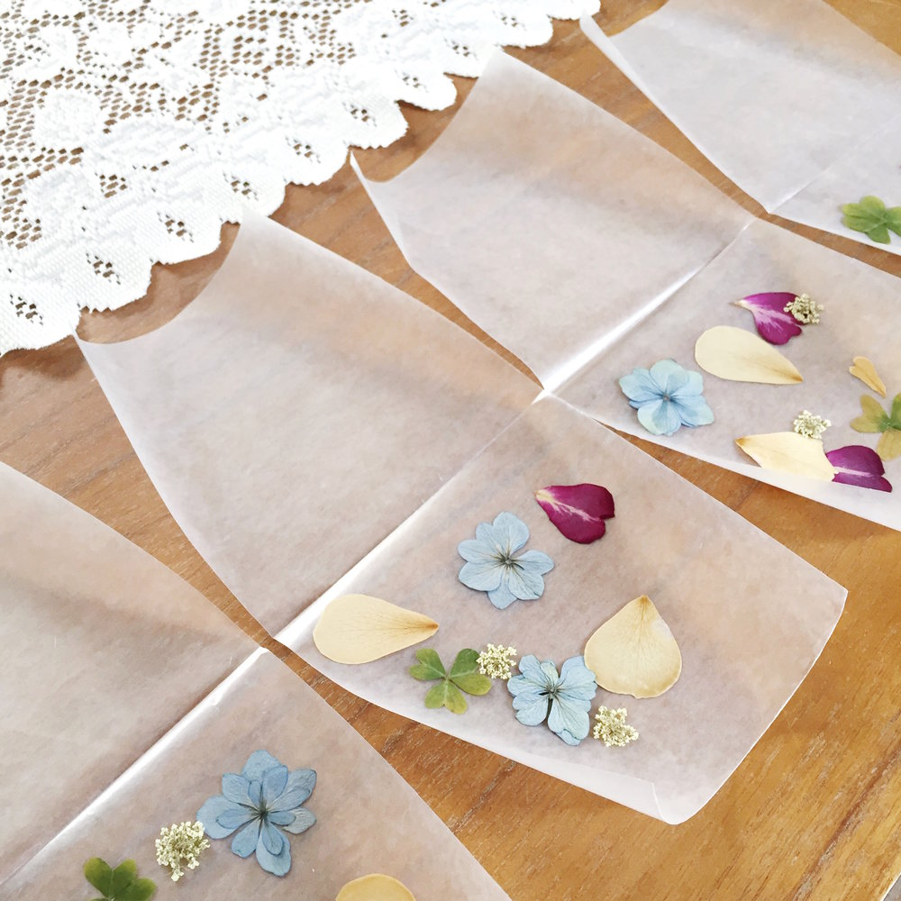 pressed flower DIY luminaries tutorial - click through to make this project!