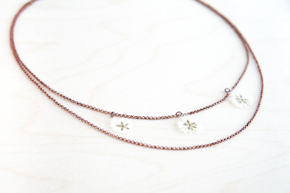 baby's breath flower jewelry - IMPRESSED by nature