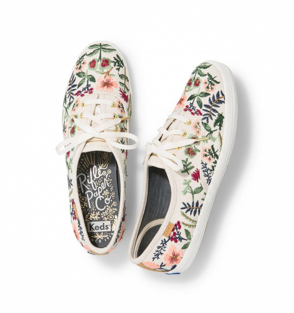 Rifle Paper Co Embroidered Herb Garden Keds