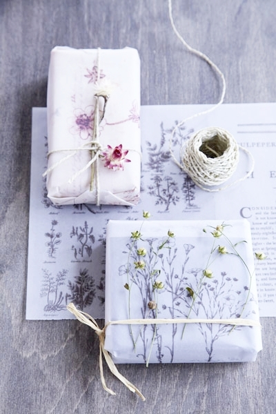 DIY Wrapping Paper Photocopied Botanical Prints