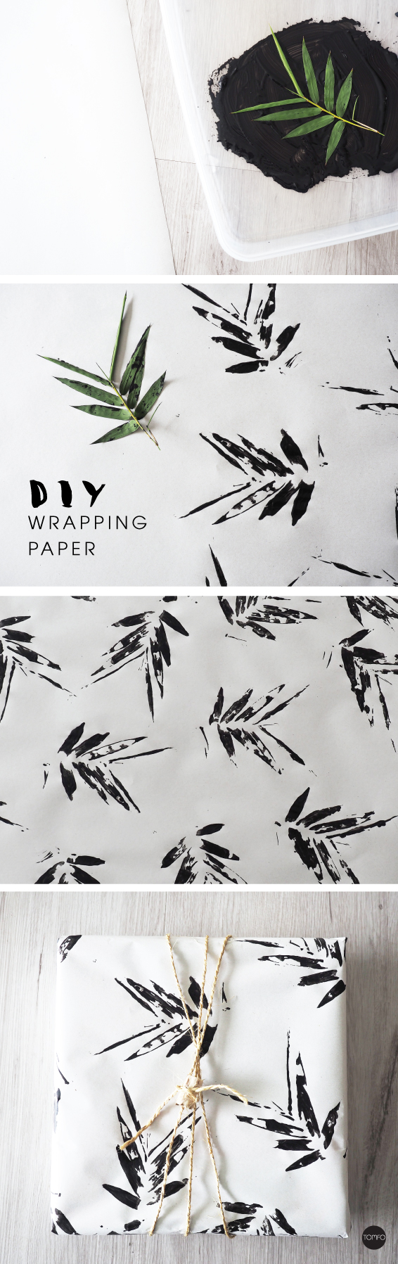 DIY Bamboo Wrapping Paper