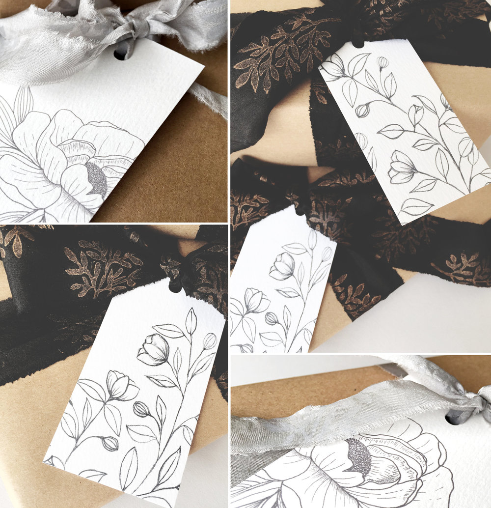 FREE PRINTABLE botanical GIFT TAGS