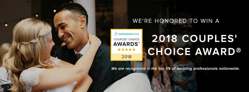 wedding wire couples choice award winner 2018