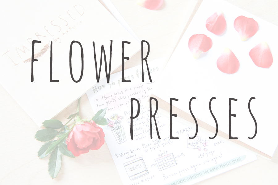 travel size flower pressing kits