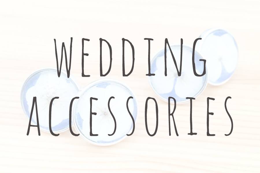 floral wedding day accessories