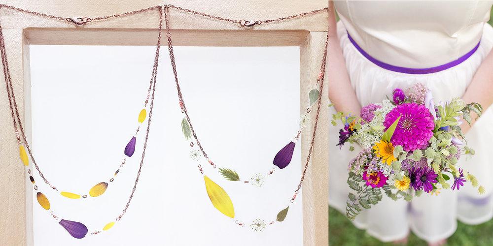 AmyJ wedding bouquet jewelry impressed by nature.jpg