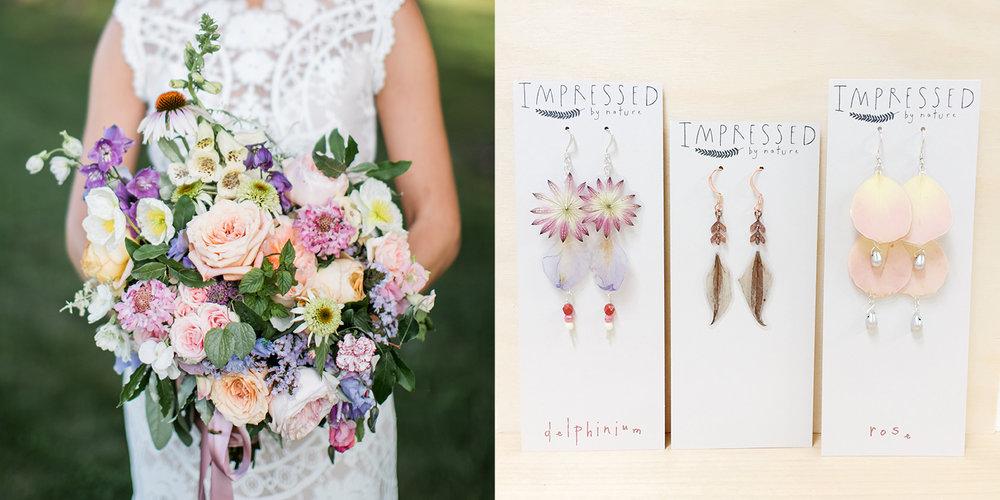 Pressed flower wedding jewelry bouquet preservation impressed by katied wedding flower jewelry impressed by natureg solutioingenieria Images