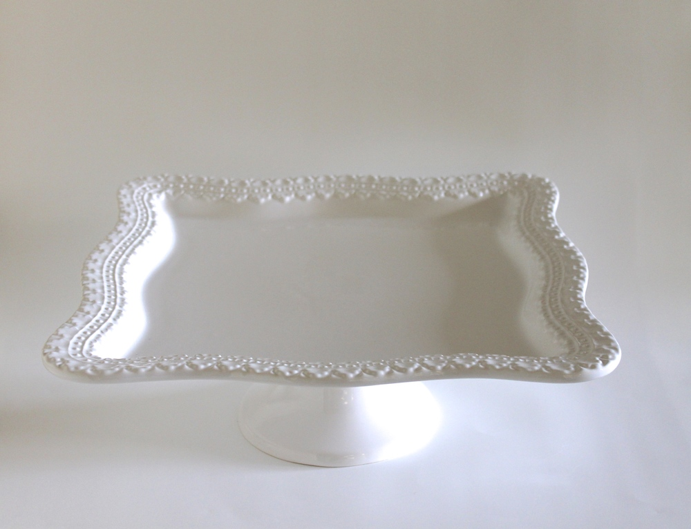 Square Cake Stand & Square Cake Stand u2014 Gathered Table Supply Co.