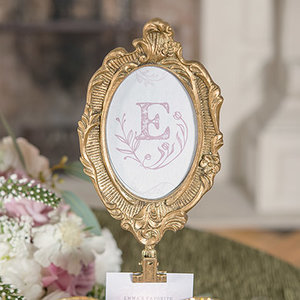 Gold Frame Table Number Rectangle Or Oval Gathered Table Supply Co