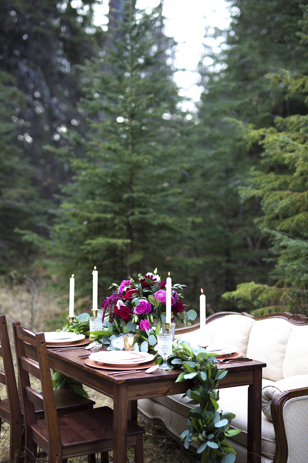 Love in the Rockies: Romantic Wedding Deep in the Woods. Click for more.