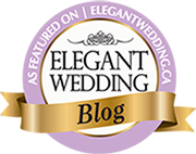 Elegant wedding badge