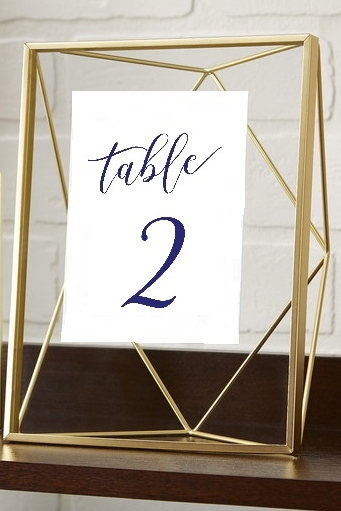 Geometric Gold Table Number — Gathered Table Supply Co.