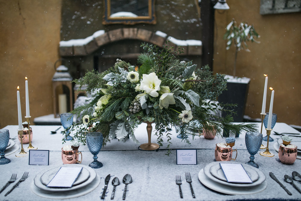 Calgary Bride: Moody Winter Styled Shoot. Click for more.