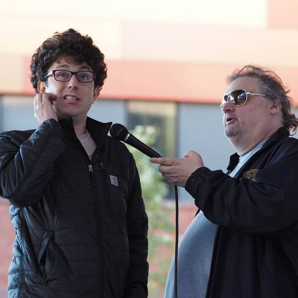 Performing with Artie Lange at the Hoboken Comedy Fest (credit Chris Langston)