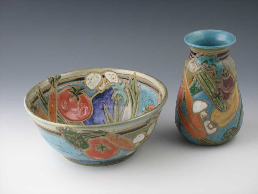 Bountiful bowl and vase