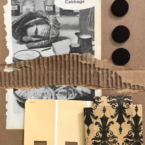 Mid Century Modern Collage -  AUGUST 10, 2018 6-9:30 pmWonderful shapes, great tones. Using a variety of cool materials - fabrics, papers, paint, buttons, do dads  - create your very own one of a kind Mid Century style collage. Perfect to put on the wall above your Eames chair.