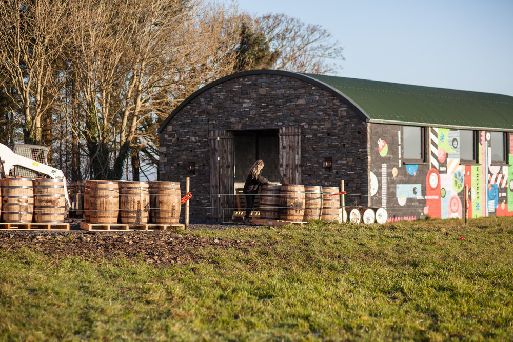 Our Rackhouse is Located on the McGuane family farm right on the Wild Atlantic Way. These are our casks arriving before being racked.