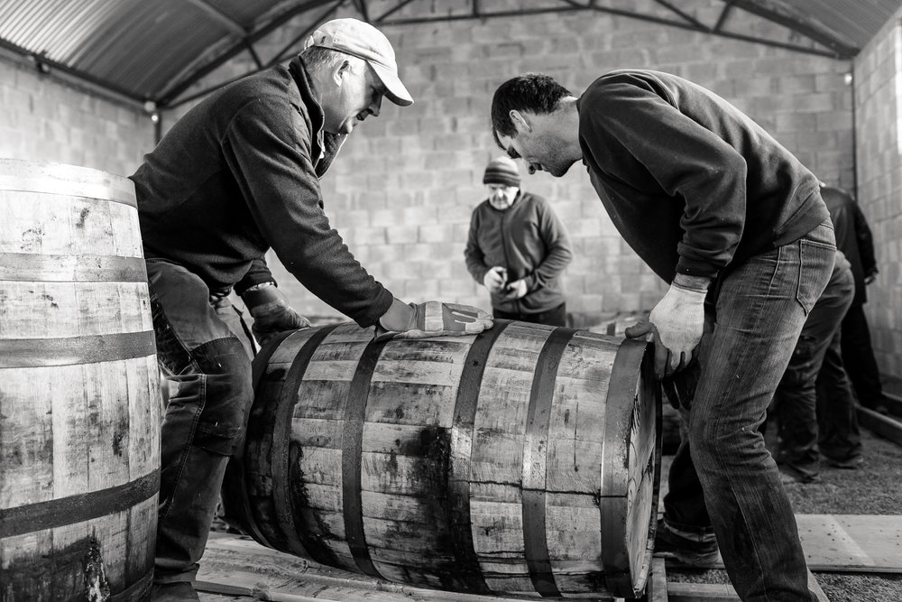 All of our casks are Racked by Hand