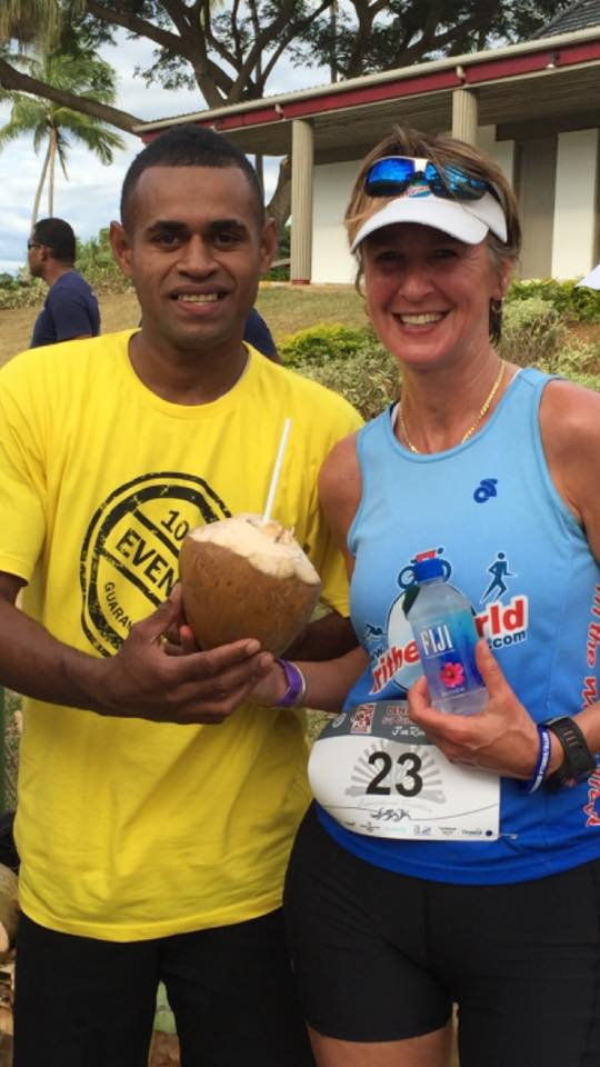 Fiji Triathlon where you get the most fresh post race drink as you cross the finish line!
