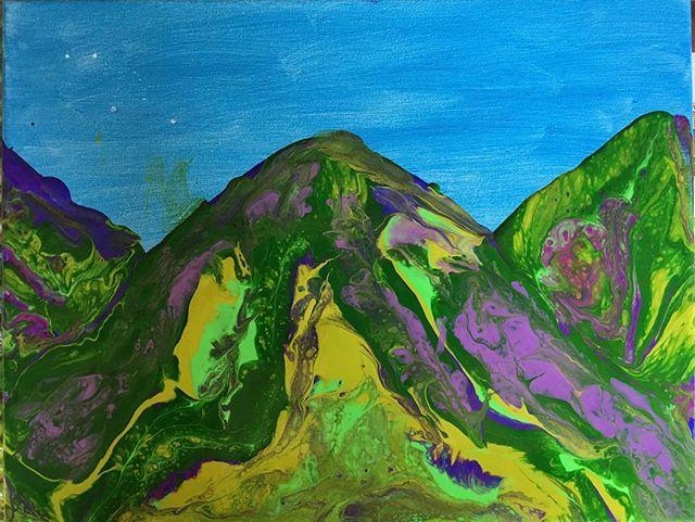 'Asian Mountains' by @robertjohncook 11 x 14, acrylic on canvas. In the studio pumping out the art to support http://optimisticvibe.com/one-native-art/ #socialenterprise #socialimpact #aroundtheworld #expat #expatlife #adventure #worldtraveler #travel #livingabroad #globaltravel #globetrotter #travelwithme #lovelivingjourney #lifeisnew #digitalgypsy #onenative #seventeachings #film #documentary #filmdocumentary #robertjohncook #optimisticvibe