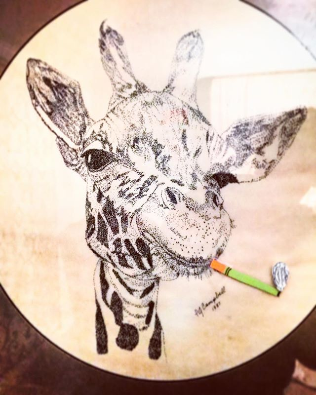 #art🎨 #giraffe #cig #latergram #joplin #couchsurfing