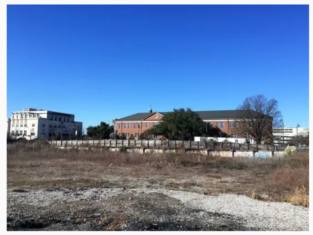 The former site of Memorial Auditorium, torn down 20 years ago, sold recently for $3 million to a hotelier based in Clemson.(Photo: Anna B. Mitchell)
