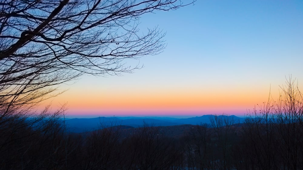 Blue Ridge Gradient Sunrise