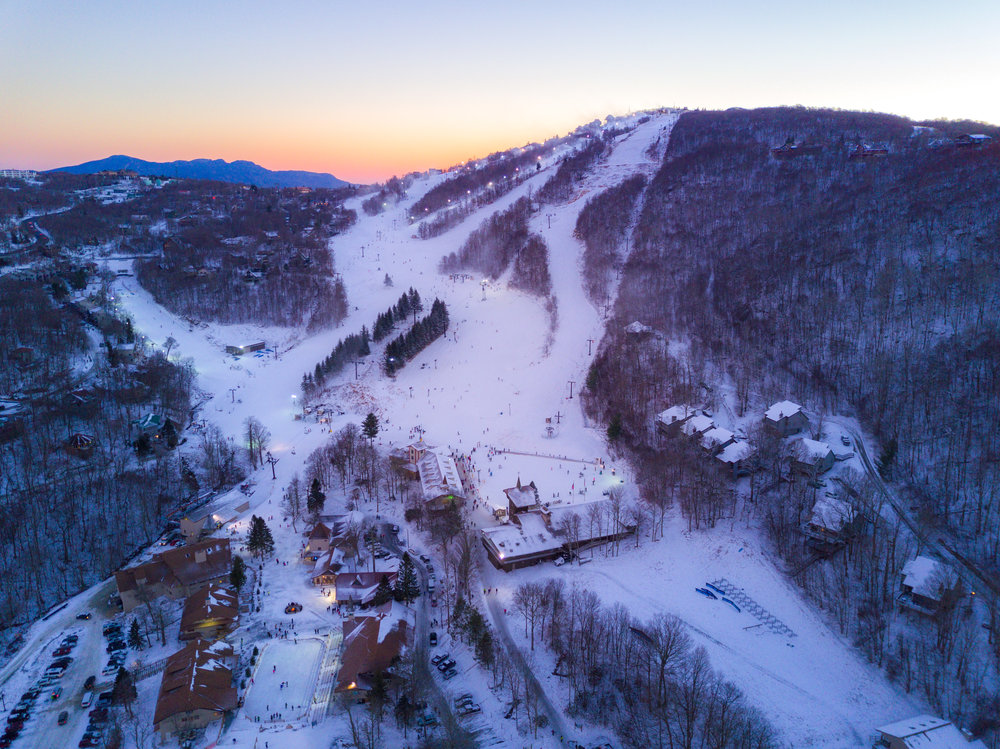 Ski Beech Sunset