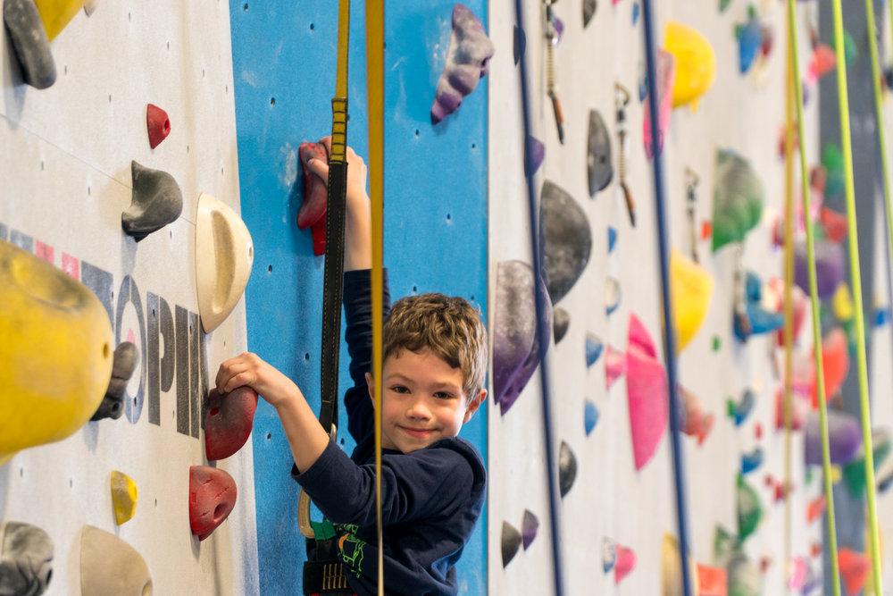 Simon Climbing Inner Peaks