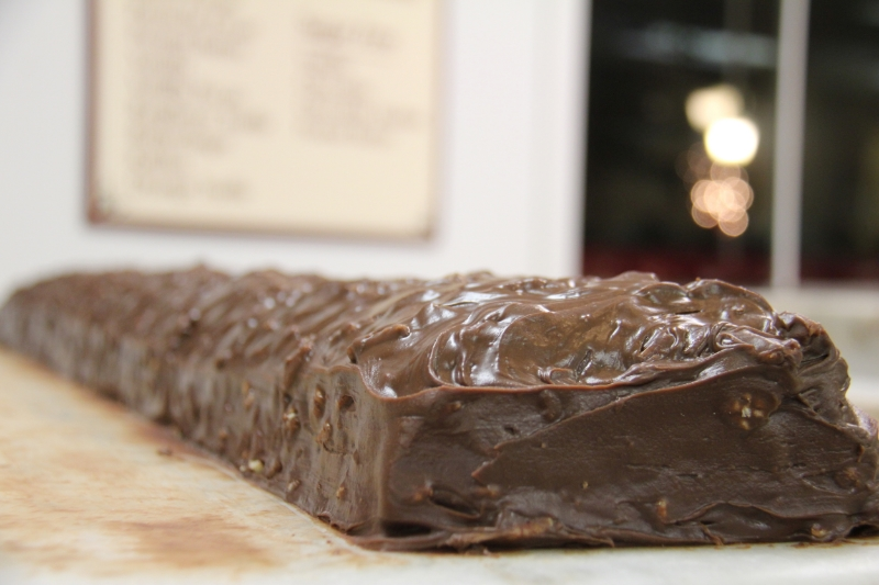 Chocolate Pecan ready to slice!