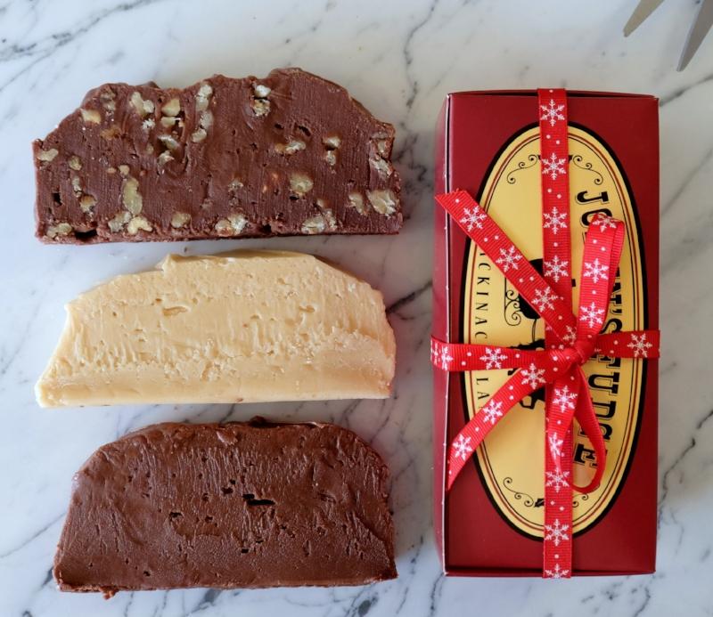 Three Slice Holiday Box of Joann's Fudge