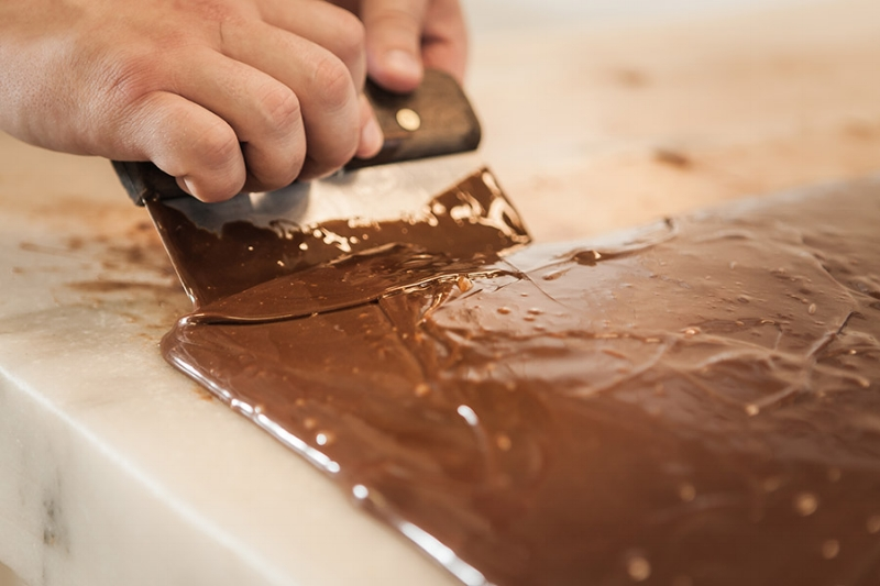 We hand paddle the fudge
