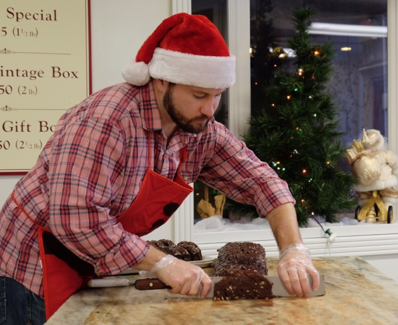 xmas aaron slicing.JPG