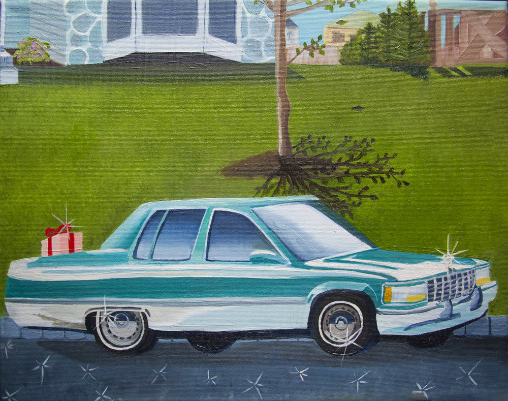 """Pop's here, Oil on Canvas, 11""""x14"""""""