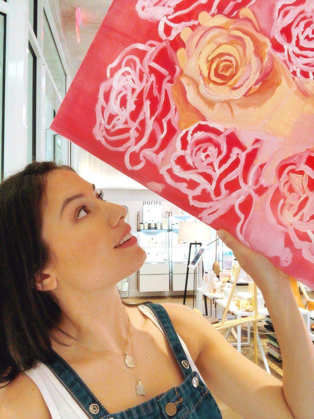 katrina-eugenia-philosophy-skincare-love-philosophy-amazing-grace-amazing-grace-ballet-rose-live-painting-oil-painting04.JPG