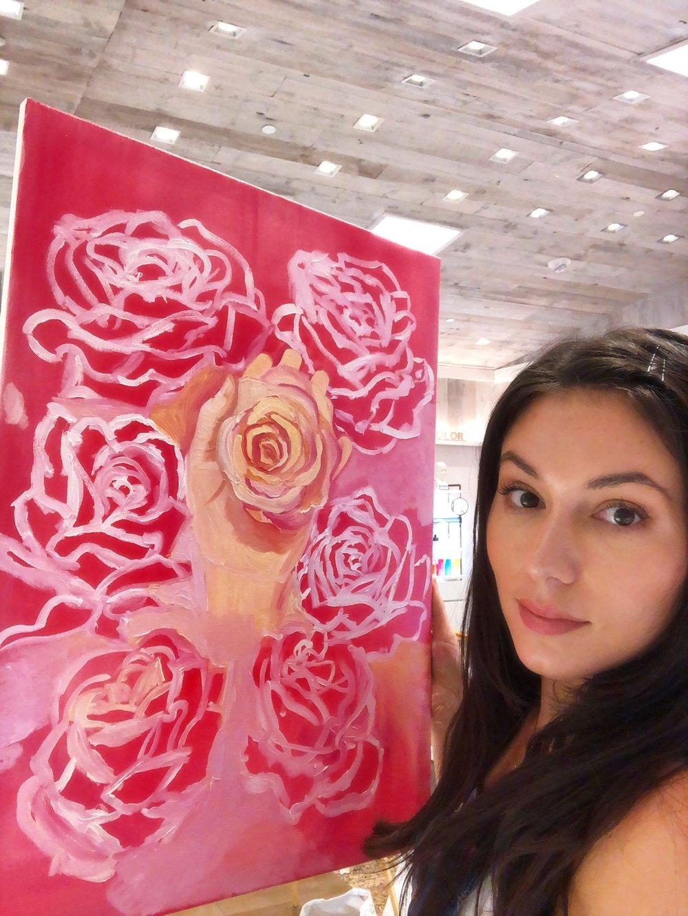 katrina-eugenia-philosophy-skincare-love-philosophy-amazing-grace-amazing-grace-ballet-rose-live-painting-oil-painting09.JPG