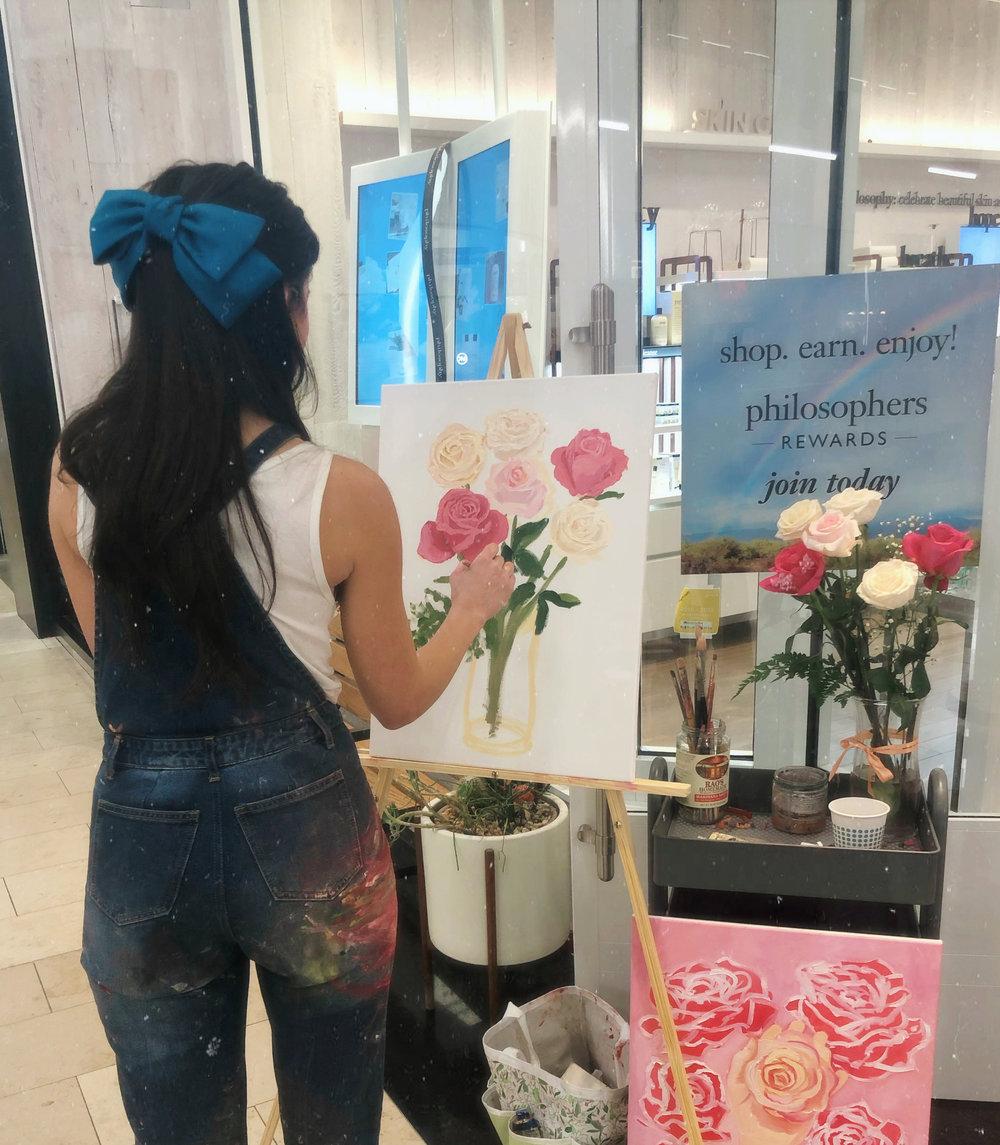 katrina-eugenia-philosophy-skincare-love-philosophy-amazing-grace-amazing-grace-ballet-rose-live-painting-oil-painting14.JPG