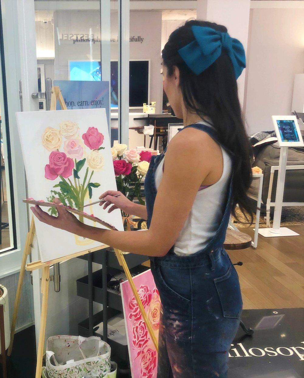 katrina-eugenia-philosophy-skincare-love-philosophy-amazing-grace-amazing-grace-ballet-rose-live-painting-oil-painting16.JPG