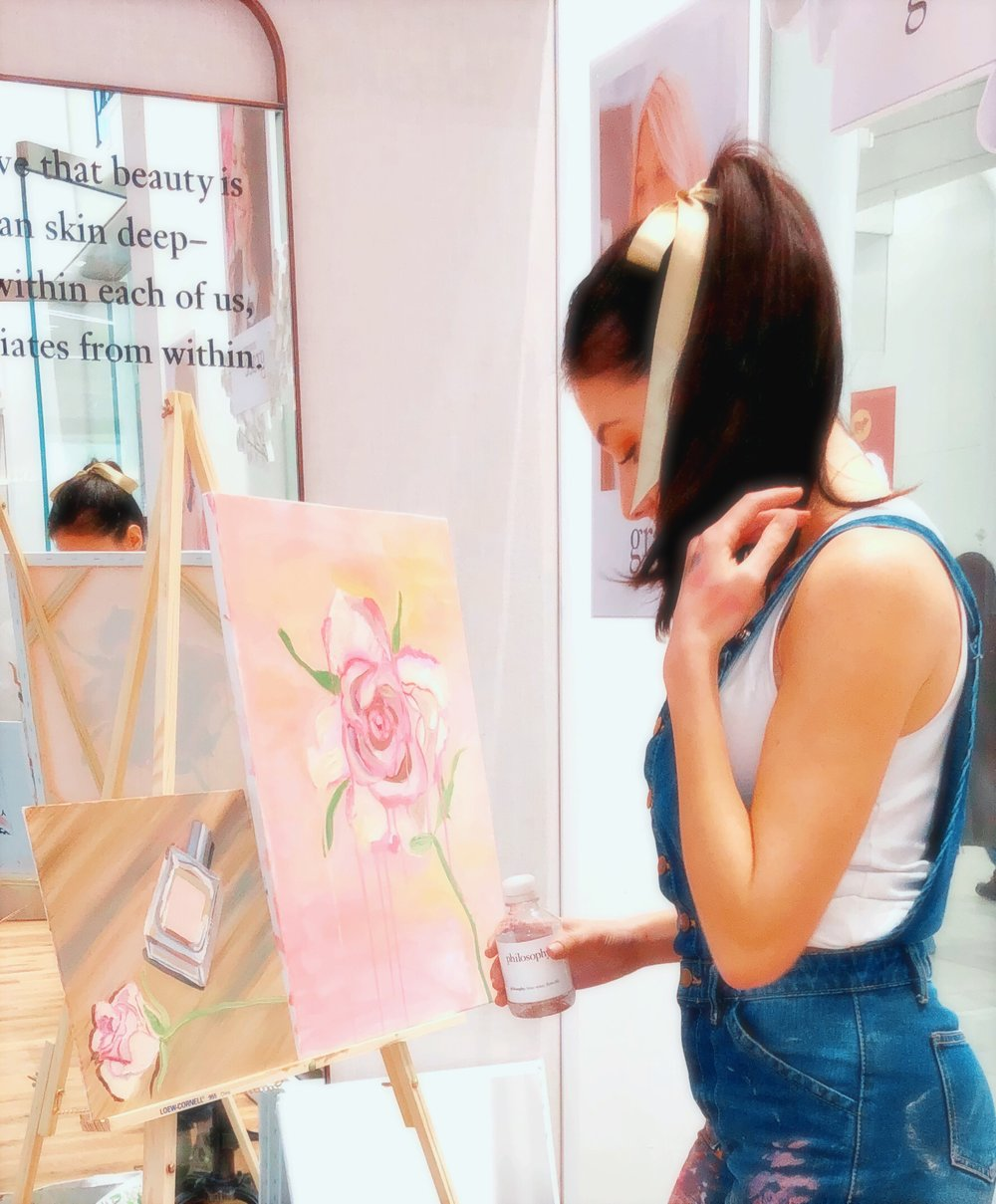 katrina-eugenia-philosophy-skincare-love-philosophy-amazing-grace-amazing-grace-ballet-rose-live-painting-oil-painting87.JPG
